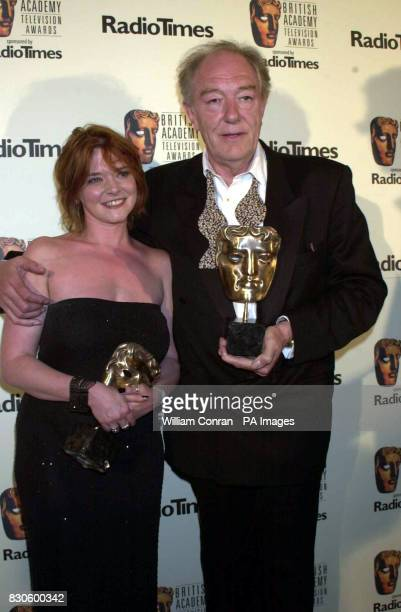 Best Actor Michael Gambon with Finty Williams who collected the Best Actress award on Behalf of her mother Dame Judi Dench at the British Academy...