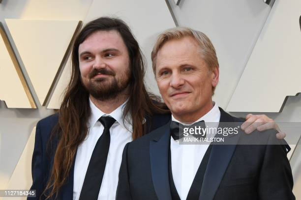 Best Actor nominee for Green Book Viggo Mortensen and his son Henry arrive for the 91st Annual Academy Awards at the Dolby Theatre in Hollywood...