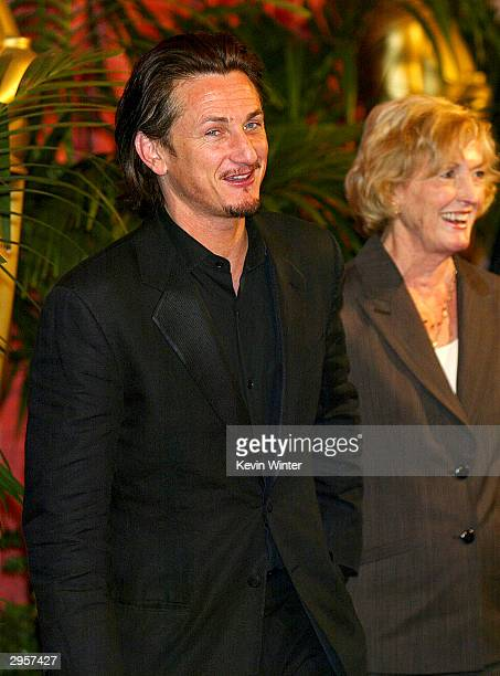 Best Actor nominee Sean Penn and his mother actress Eileen Ryan arrive at the Academy of Motion Pictures Arts and Sciences 23rd Annual Nominees...