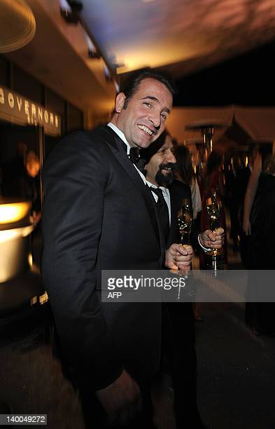 Best actor recepient Jean Dujardin of France celebrates at the Governor's Ball after the 84th Annual Academy Awards on February 26 2012 in Hollywood...