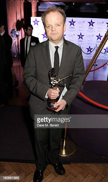 Best Actor winner Toby Jones attends the London Evening Standard British Film Awards supported by Moet Chandon and Chopard at the London Film Museum...