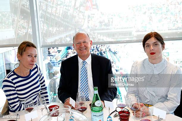 Best Actress at Cannes Film Festival 2015 Emmanuelle Bercot President of France Television Remy Pflimlin and Actress Valerie Donzelli attend the 2015...