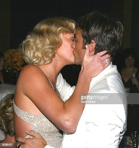 Best Actress Charlize Theron and boyfriend Stuart Townsend kiss at the 76th Annual Academy Awards Governors Ball at the Kodak Theatre on February 29,...