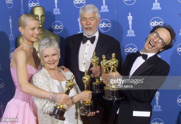 Best Actress Gwyneth Paltrow for Shakespeare In Love Best Supporting Actress Judi Dench for Shakespeare In Love Best Supporting Actor James Coburn...