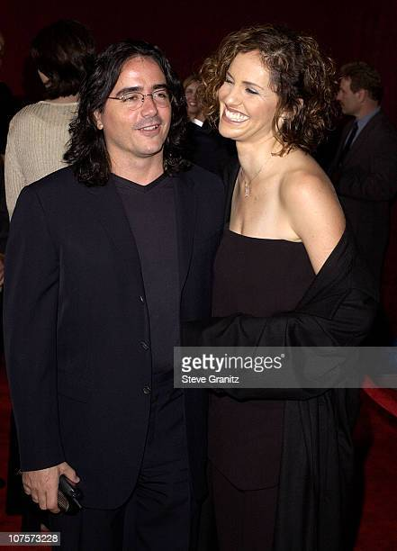 Best Actress in a Drama nominee Amy Brenneman and husband director Brad Silberling arrive for the 53rd Annual Primetime Emmy Awards
