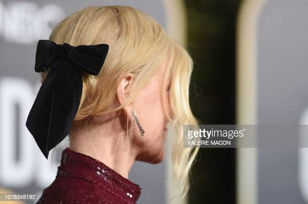 Best Actress in a Motion Picture Drama for Destroyer nominee Nicole Kidman arrives for the 76th annual Golden Globe Awards on January 6 at the...