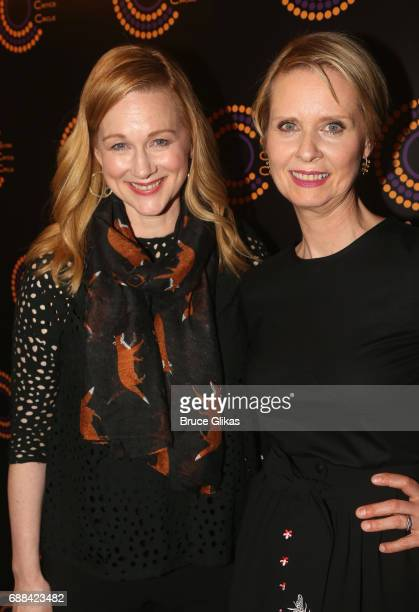 Best Actress in a Play Winner for The Little Foxes Laura Linney and Best Featured Actress in a Play Winner for The Little Foxes Cynthia Nixon pose at...