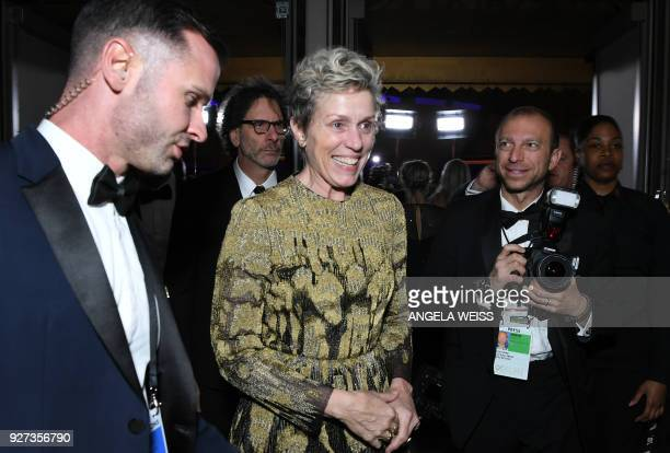 Best Actress laureate Frances McDormand attends the 90th Annual Academy Awards Governors Ball at the Hollywood Highland Center on March 4 in...