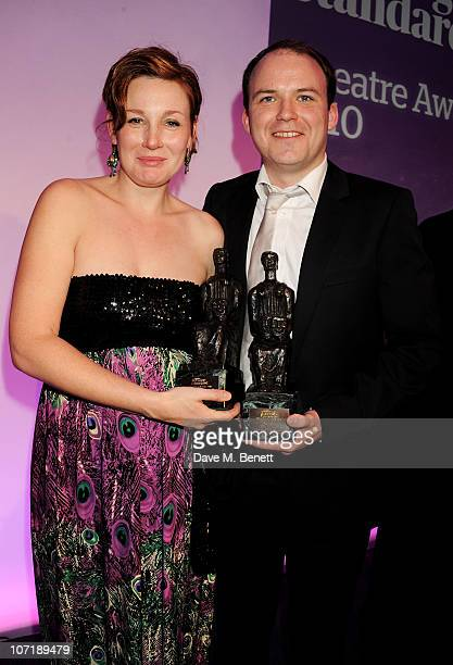 Best Actress Nancy Carroll and Best Actor Rory Kinnear attend the London Evening Standard Theatre Awards ceremony at The Savoy Hotel on November 28...