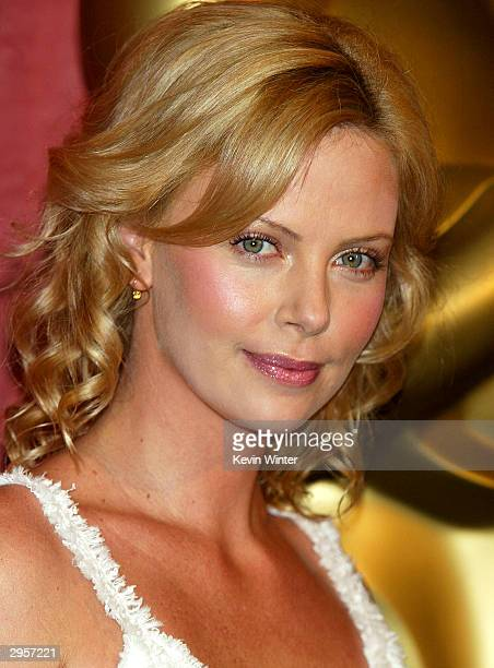 Best Actress nominee Charlize Theron arrives at the Academy of Motion Pictures Arts and Sciences 23rd Annual Nominees Luncheon at the Beverly Hilton...