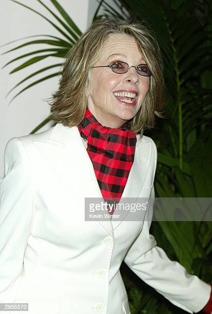 Best Actress nominee Diane Keaton arrives at the Academy of Motion Pictures Arts and Sciences 23rd Annual Nominees Luncheon at the Beverly Hilton...