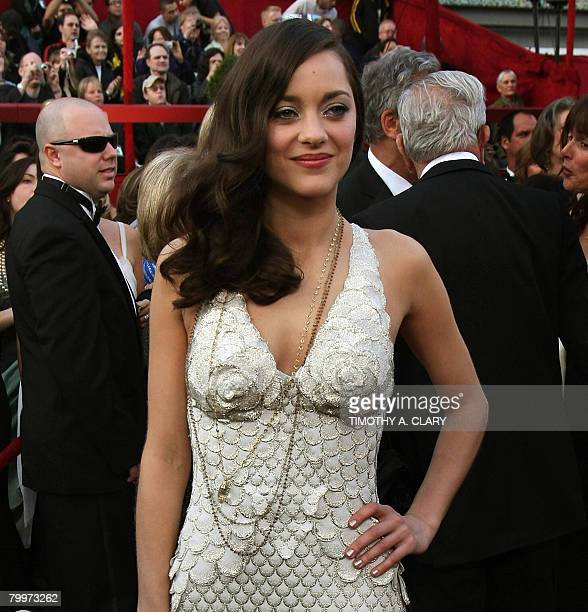 Best Actress Oscar winner Marion Cotillard arrives for the 80th Annual Academy Awards at the Kodak Theater in Hollywood California on February 24...