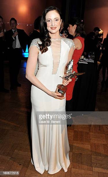 Best Actress winner Andrea Riseborough attends the London Evening Standard British Film Awards supported by Moet Chandon and Chopard at the London...