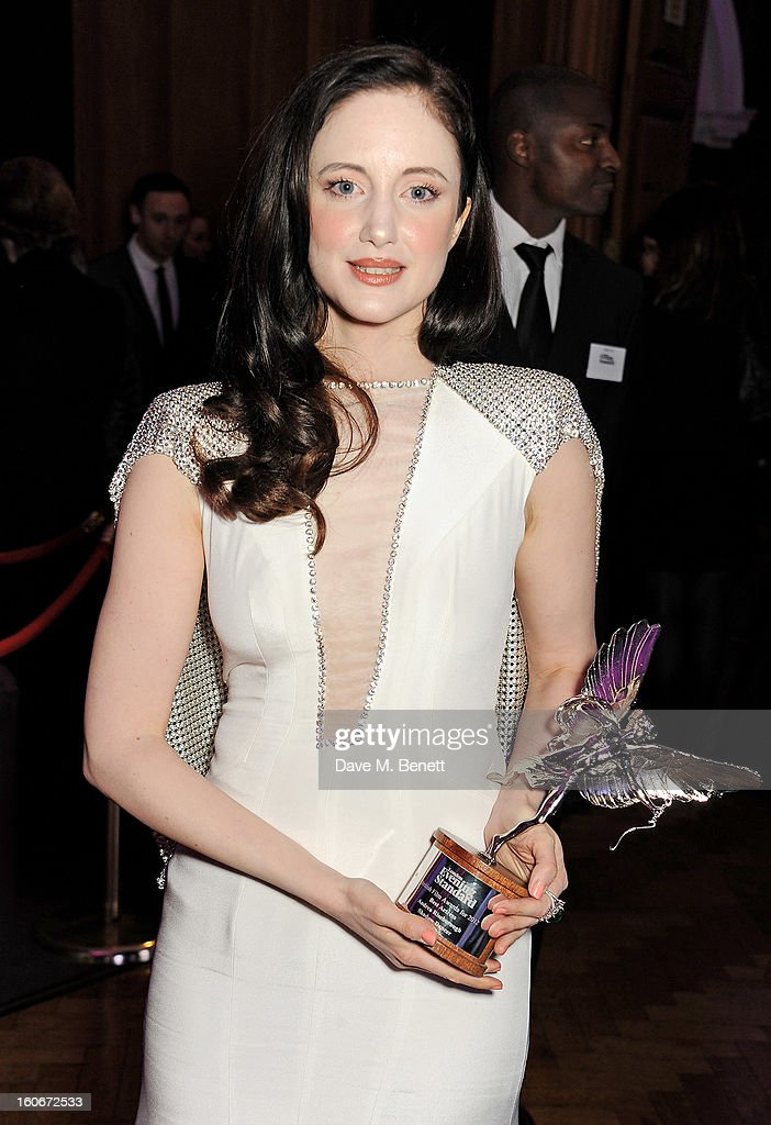 Best Actress winner Andrea Riseborough attends the London Evening Standard British Film Awards supported by Moet & Chandon and Chopard at the London Film Museum on February 4, 2013 in London, England.