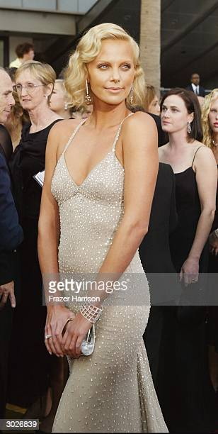 Best Actress winner Charlize Theron attends the 76th Annual Academy Awards at the Kodak Theater on February 29, 2004 in Hollywood, California.