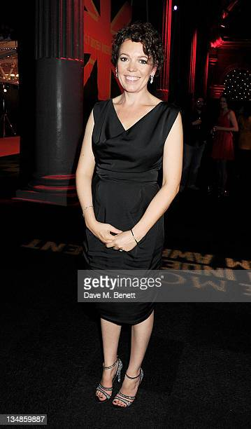 Best Actress winner Olivia Colman attends an after party following the Moet British Independent Film Awards 2011 at Old Billingsgate Market on...