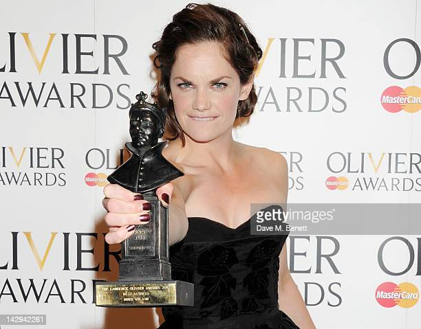 Best Actress winner Ruth Wilson poses in the press room at the 2012 Olivier Awards held at The Royal Opera House on April 15 2012 in London England