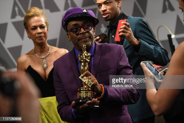 Best Adapted Screenplay winner for BlacKkKlansman Spike Lee attends the 91st Annual Academy Awards Governors Ball at the Hollywood Highland Center in...