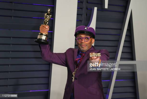 Best Adapted Screenplay winner for BlackKklansman Spike Lee attends the 2019 Vanity Fair Oscar Party following the 91st Academy Awards at The Wallis...