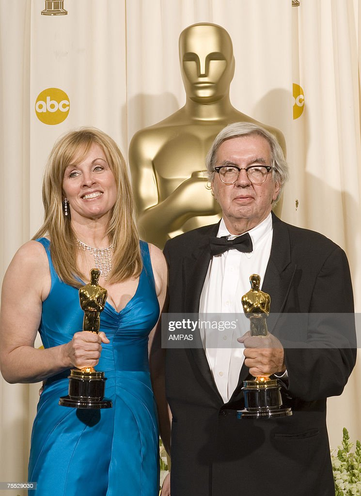 Best Adapted Screenplay Winners Diana Ossana And Larry McMurtry Backstage During The 78th Annual Academy Awards