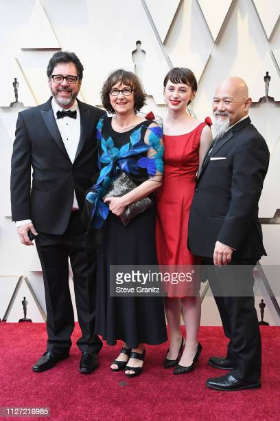 Best Animated Short Film nominees for 'Animal Behaviour' Alison Snowden and David Fine attends the 91st Annual Academy Awards at Hollywood and...
