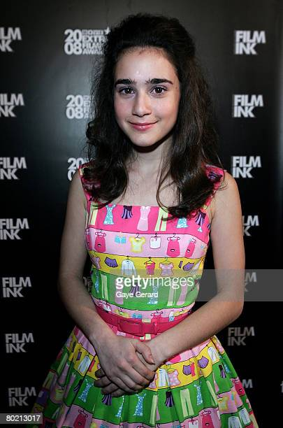 Best Australian Newcomer Danielle Catanzariti poses at the 2008 Movie Extra FilmInk Awards at the State Theatre on March 12 2008 in Sydney Australia...