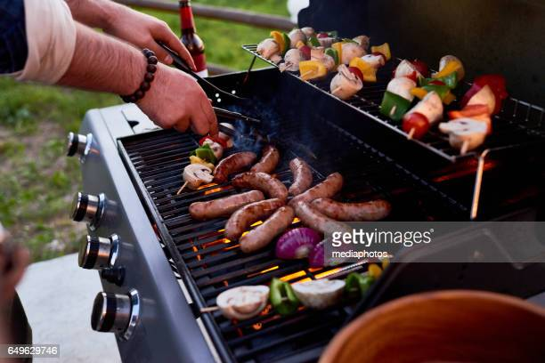 best bbq party - grill concept stock photos and pictures