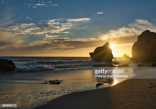 best beach in california - malibu beach stock pictures, royalty-free photos & images
