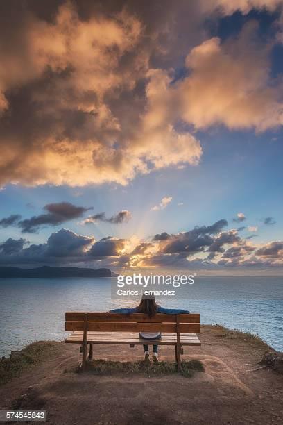best bench in the world - comunidad autónoma de galicia fotografías e imágenes de stock
