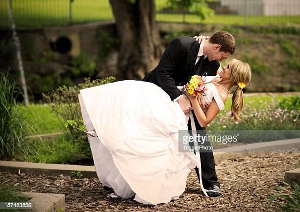 Best Bride and Groom Happy Wedding Dress Dancing