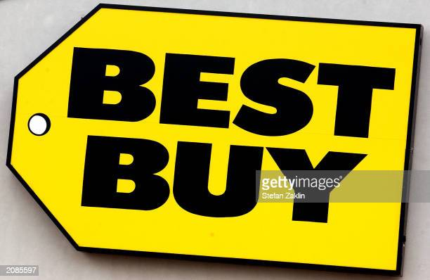 Best Buy store logo is seen June 16 2003 in Alexandria Virginia The consumer electronics store chain will announce quarterly earnings this week