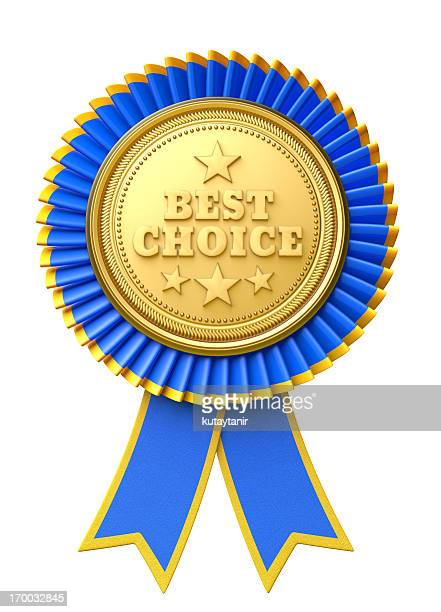 best choice - blue ribbon stock photos and pictures