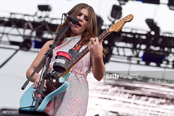 Best Coast performs during a concert as part of Corona Capital Festival day 1 at Hermanos Rodriguez Racetrack on October 11 2014 in Mexico City Mexico