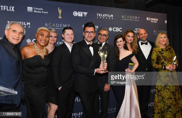 Best Comedy Series winners for Schitt's Creek Fred Levy Karen Robinson Jennifer Robertson Noah Reid Dan Levy Eugene Levy Emily Hampshire Annie Murphy...