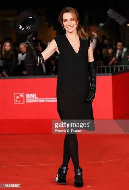 Best Debut and Second Film Award Jury member Stefania Rocca attends the Closing Ceremony during the 7th Rome Film Festival at Auditorium Parco Della...
