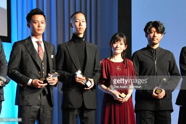 Best Debutants Awards winners shoemaker Yuichi Handa fashion designer Yoshiki Hanzawa musician Mareka Naito and architect and photographer Satoshi...