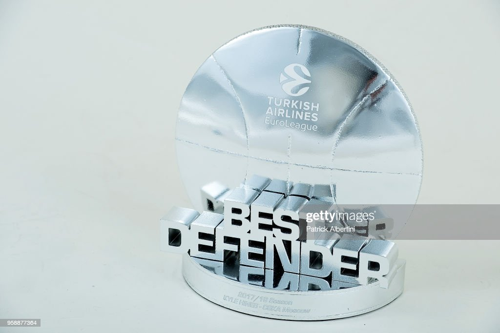 Best Defender Award during 2018 Turkish Airlines EuroLeague F4 Trophy Session at Stark Arena on May 16, 2018 in Belgrade, Serbia.