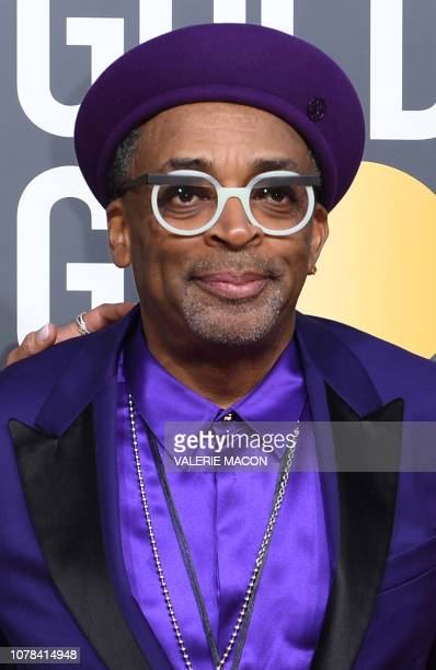 Best Director Motion Picture for BlacKkKlansman nominee Spike Lee arrives for the 76th annual Golden Globe Awards on January 6 at the Beverly Hilton...