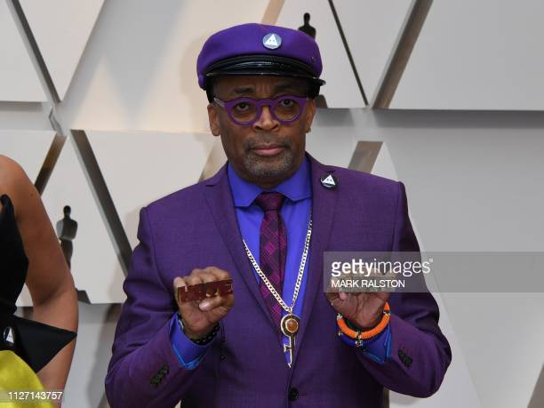 Best Director nominee for BlackKklansman Spike Lee arrives for the 91st Annual Academy Awards at the Dolby Theatre in Hollywood California on...