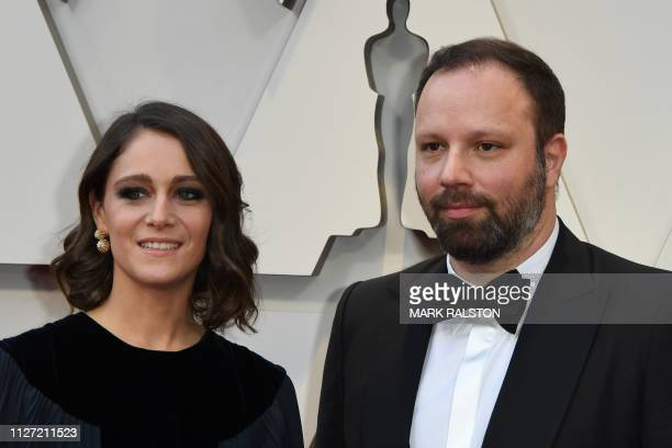 Best Director nominee for The Favourite Yorgos Lanthimos and his wife actress Ariane Labed arrive for the 91st Annual Academy Awards at the Dolby...
