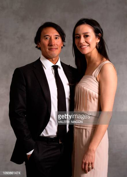 Best Documentary Feature for Free Solo directors Jimmy Chin and Elizabeth Chai Vasarhelyi pose during a photo session ahead of the 91st Oscars...