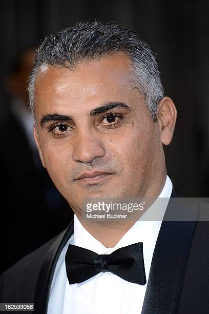 Best Documentary Feature nominee Emad Burnat arrives at the Oscars at Hollywood & Highland Center on February 24, 2013 in Hollywood, California.