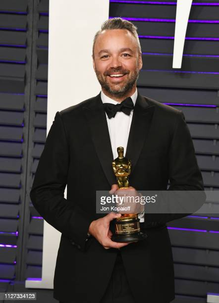 Best Documentary Feature winner for 'Free Solo' producer Evan Hayes attends the 2019 Vanity Fair Oscar Party hosted by Radhika Jones at Wallis...