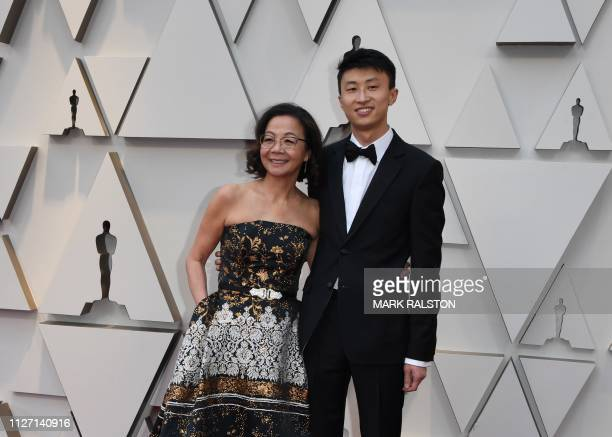 Best Documentary nominees for Minding the Gap Bing Liu and Diane Quon arrive for the 91st Annual Academy Awards at the Dolby Theatre in Hollywood...