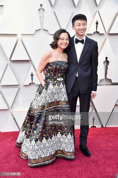 Best Documentary nominees for 'Minding the Gap' Bing Liu and Diane Quon attend the 91st Annual Academy Awards at Hollywood and Highland on February...