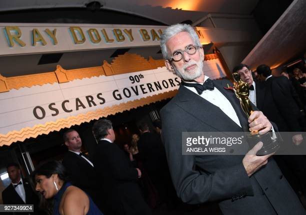 Best Documentary Short Subject laureate US director Frank Stiefel attends the 90th Annual Academy Awards Governors Ball at the Hollywood Highland...