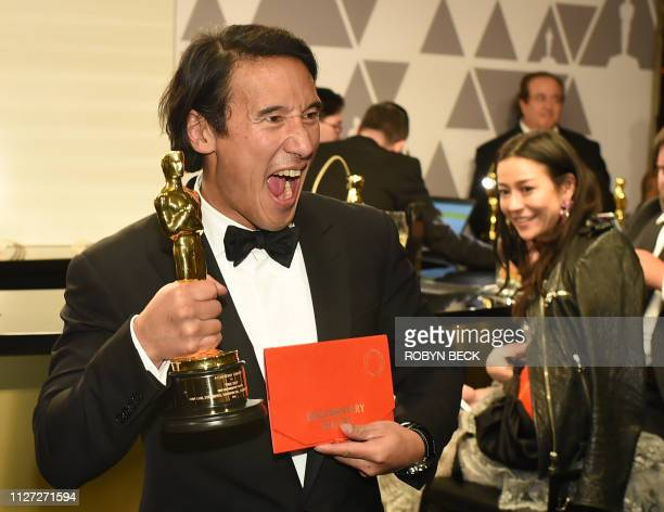 Best Documentary winner for Free Solo Jimmy Chin attends the 91st Annual Academy Awards Governors Ball at the Hollywood Highland Center in Hollywood...