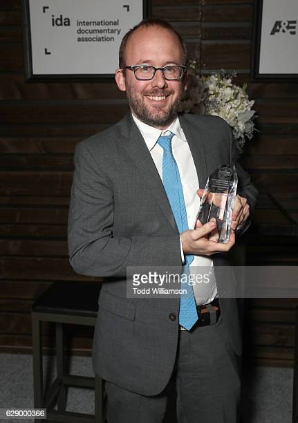 Best Editing award recipient Nels Bangerter attends the 32nd Annual IDA Documentary Awards at Paramount Studios on December 9 2016 in Hollywood...