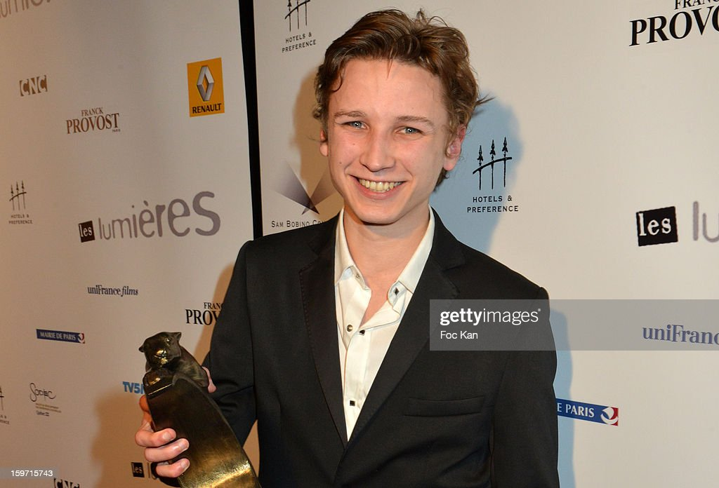 Best Espoir awarded actor Ernst Umhauer attends 'Les Lumieres 2013' Cinema Awards 18th Ceremony at La Gaite Lyrique on January 18, 2013 in Paris, France.