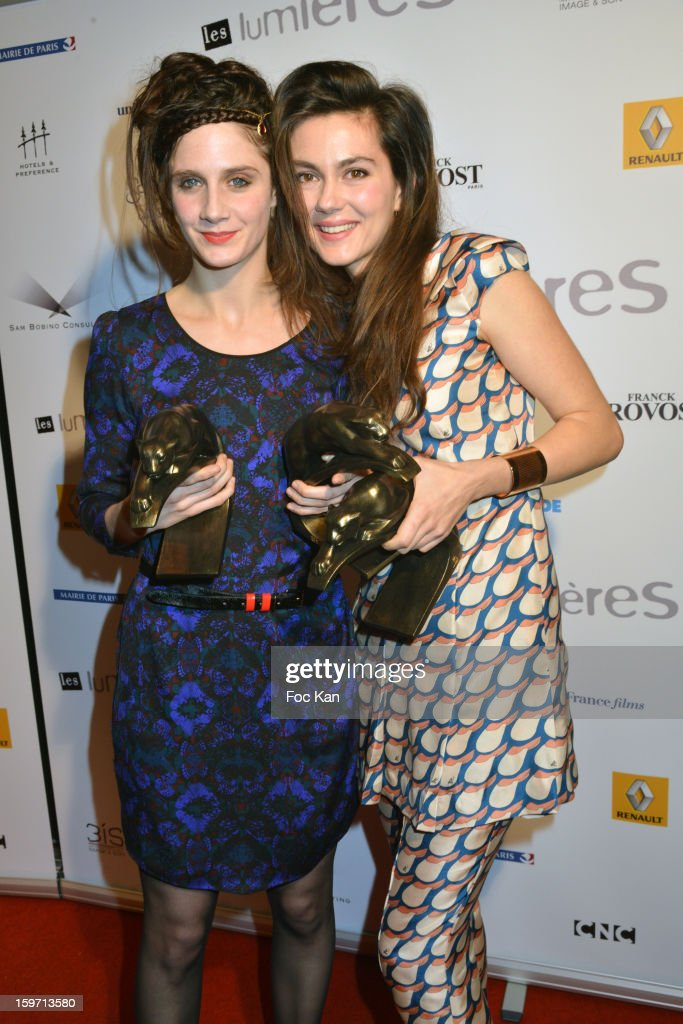 Best Espoir Awarded actresses Judith Chemla and Julia Faure attend 'Les Lumieres 2013' Cinema Awards 18th Ceremony at La Gaite Lyrique on January 18, 2013 in Paris, France.